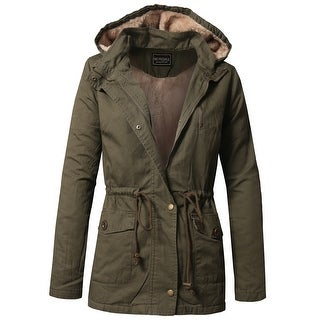 NE PEOPLE Womens Long Sleeve Military Anorak Jacket S-3XL ...
